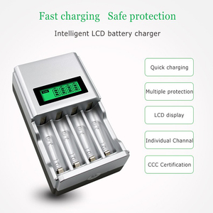 Image 5 - Hot quality 4 Slots LCD Display Smart Intelligent Battery Charger for AA / AAA NiCd NiMh Rechargeable Batteries EU Plug#8175