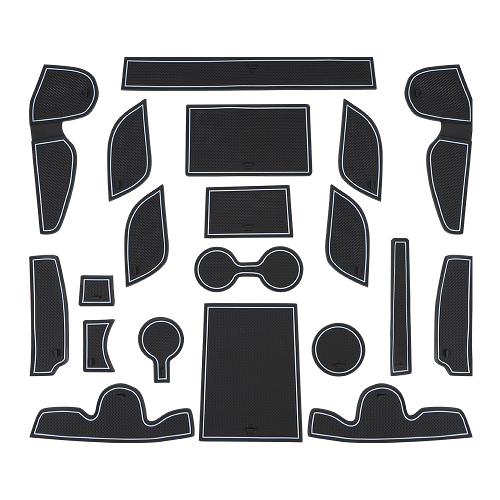 20pcs Door Groove Mat For Hyundai Tucson 2015 2016 2017 Rubber Mat Anti-Slip Gate Slot Cup Pad Car Styling