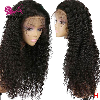 Eayon Hair Brazilian Loose Deep 13*4 Lace Front Human Hair Wigs Pre Plucked Remy 130% Density With Baby Hair For Black Women