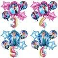 """1 комплект диснеевской принцессы из мультфильма """"Холодное сердце"""" Эльза воздушные шары с гелием 32 дюймов номер Baby Shower вечерние украшения В..."""