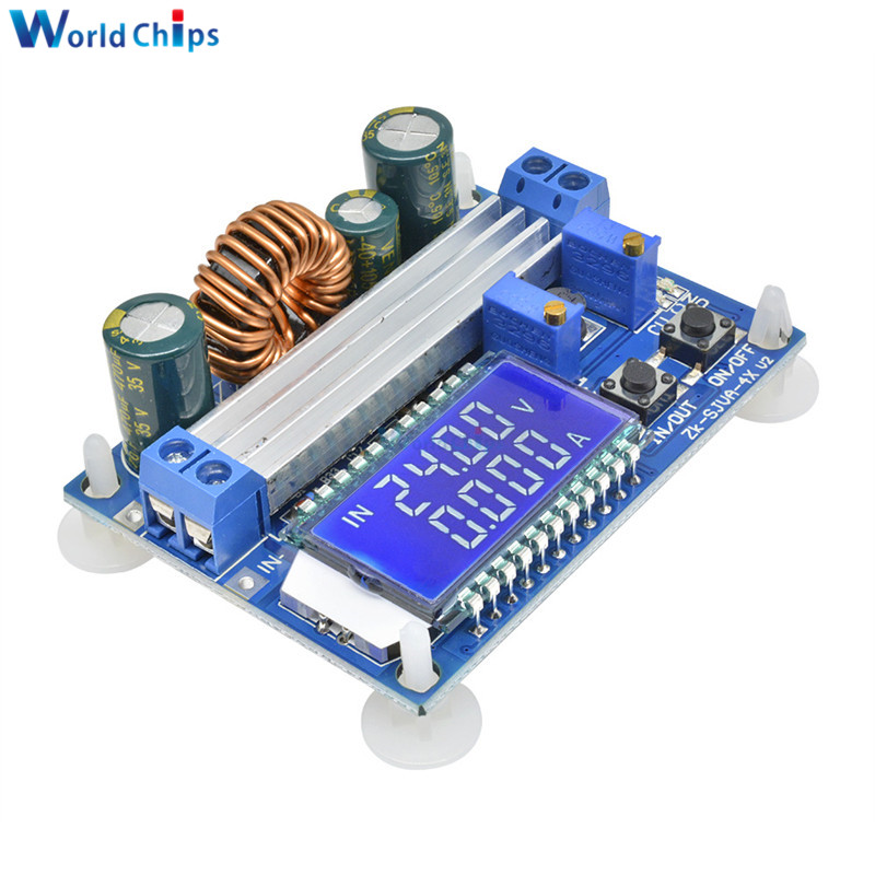 DC Buck Converter,Converter 6.5V-36V to 1.2-32V 5V Volt Reducer Board Board Voltage Regulator Power Supply Module with LCD Display and Protective Shell