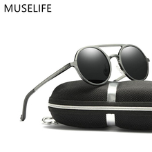 MUSELIFEยี่ห้ออลูมิเนียมแมกนีเซียมแว่นตากันแดดPolarized 2020แว่นตากันแดดผู้ชายขับรถแว่นตาPunk Shadow Oculus Masculino