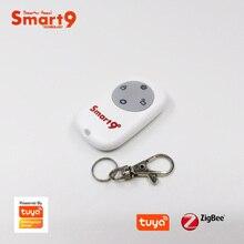 Smart9 ZigBee แบตเตอรี่รีโมทคอนโทรลทำงานร่วมกับ Tuya ZigBee HUB,ปุ่ม SOS ALARM,ขับเคลื่อนโดย Tuya