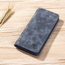 luxury Men's leather wallet Long Style High Quality Card Holder Male Purse Large Capacity credit card walet purse brand wallets on AliExpress