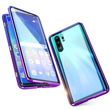 360 Full Magnetic Protective Case For Huawei P40 P30 Pro P20 Mate 20 Pro Metal Bumper 12D Front Touch Film Tempered Glass Covers for huawei p30 pro magnetic case 360 double sided tempered glass case for huawei mate 20 pro p20 pro p smart z metal bumper case