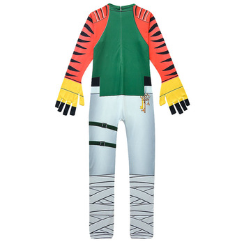 Boys Carnival MEZMER / Raptor Costumes Jumpsuits Kids Clown Cosplay Clothes Halloween Costumes Raven Party Game Cosplay Costumes 5