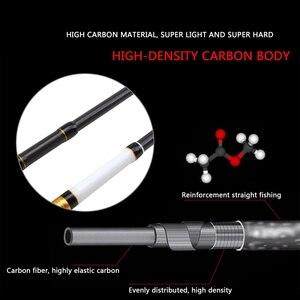 Image 2 - Profitto più basso 1.8m 2.1m 2.4m 2.7m canna da pesca in carbonio colata telescopica Spinning canna da pesca attrezzatura da pesca attrezzatura da richiamo