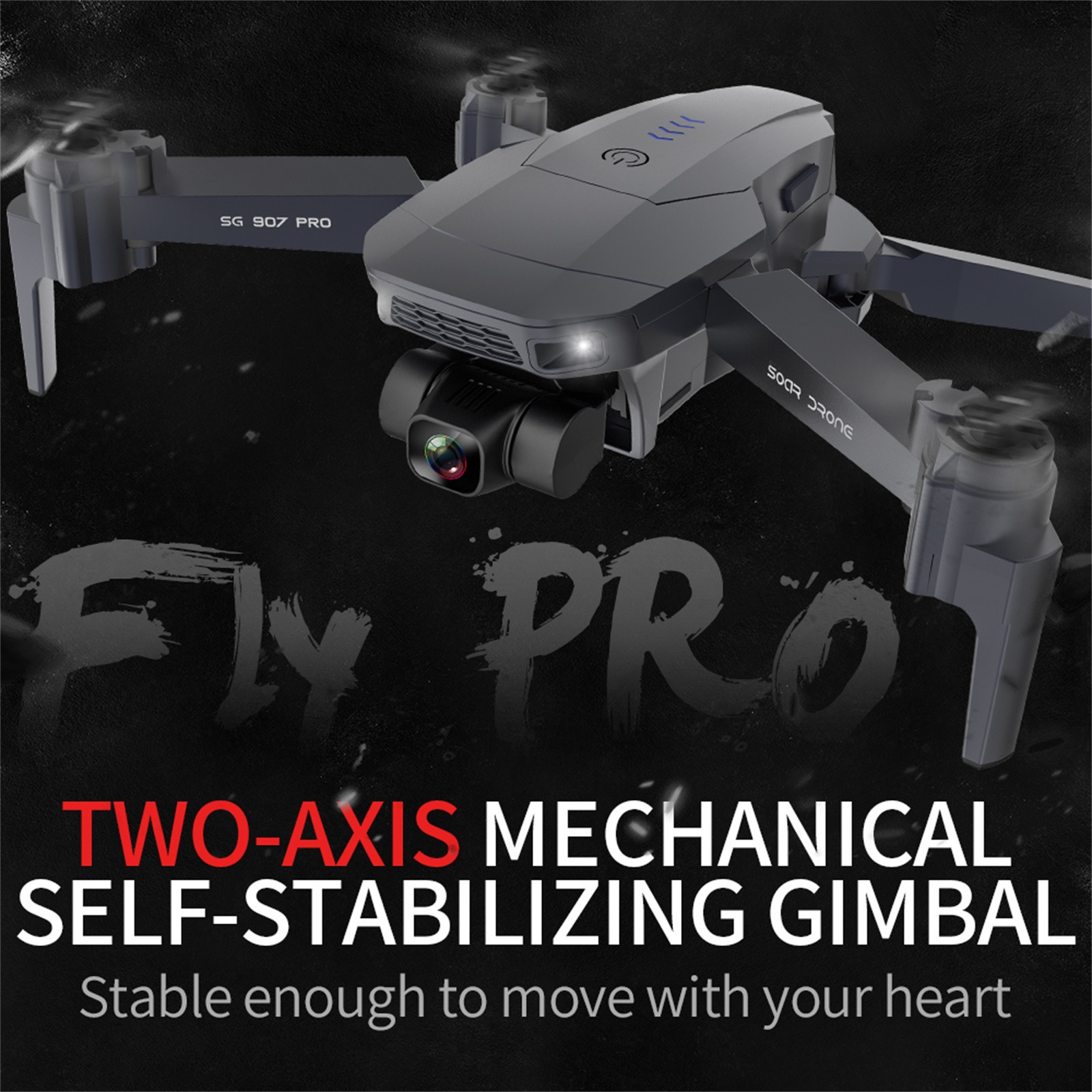 H306157292e2d49a7bd94ff3e145ff87dV - 2020 New Sg907 Pro 5g Wifi Drone 2-axis Gimbal 4k Camera Wifi Gps Rc Drone Toy Rc Four-axis Professional Folding Camera Drones