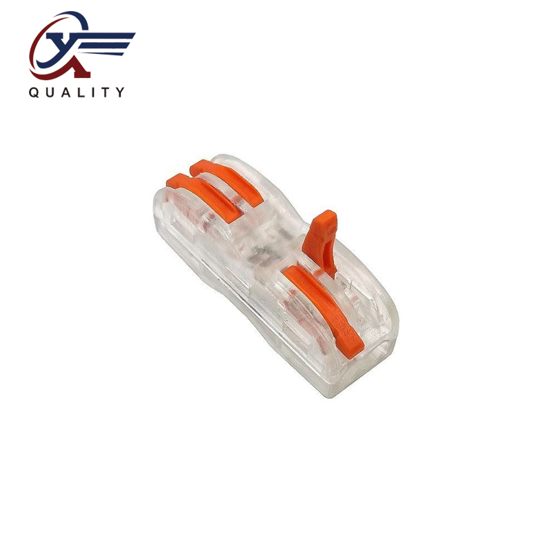 30/50/100PCS PCT 222 Electrical Wiring Terminal Household Wire Connectors Fast Terminals For Connection Of Wires Lamps SPL 2T Connectors     - title=