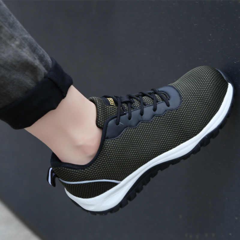 Мужская защитная обувь Рабочая обувь стальной носок Кепка военные высококачественные рабочие защитные ботинки уличные кроссовки мужские ПРОКАЛЫВАЮЩИЕ ботинки 2019