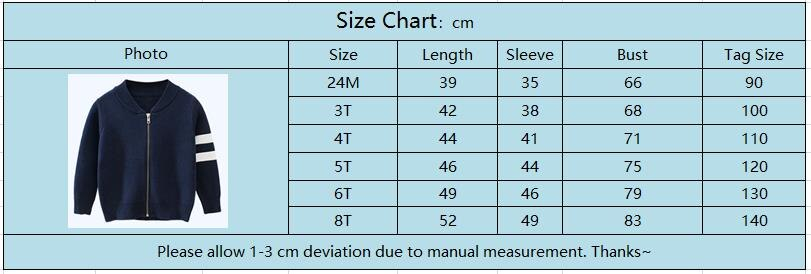 Oeak Autumn Winter Kids Striped Sweater Top Children Knitted Cardigan Sweater Baseball Coat Toddler Jacket Outerwear Clothes 2