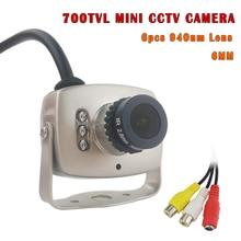 Analog-Camera CMOS 700TVL Surveillance-Home Small Indoor Audio Night 6pcs MIC Ir-Day