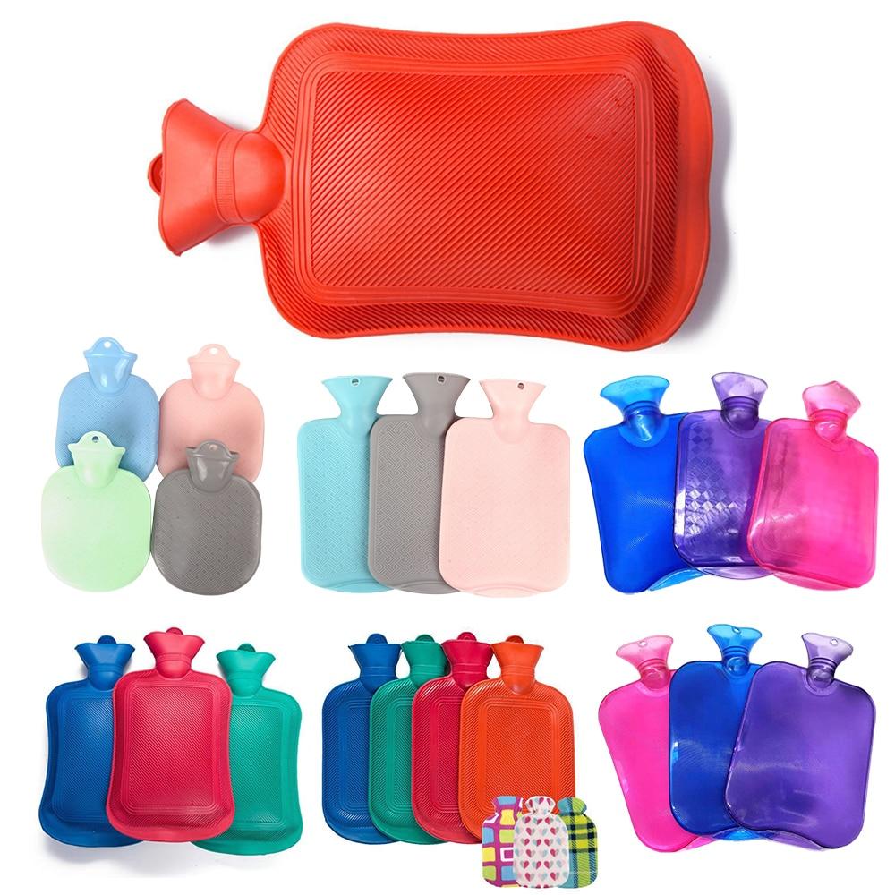 2000 мл портативные резиновые толстые грелки для рук, бутылки для горячей воды, зимние теплые бутылки для воды, карман для девочек, ручная ножк...
