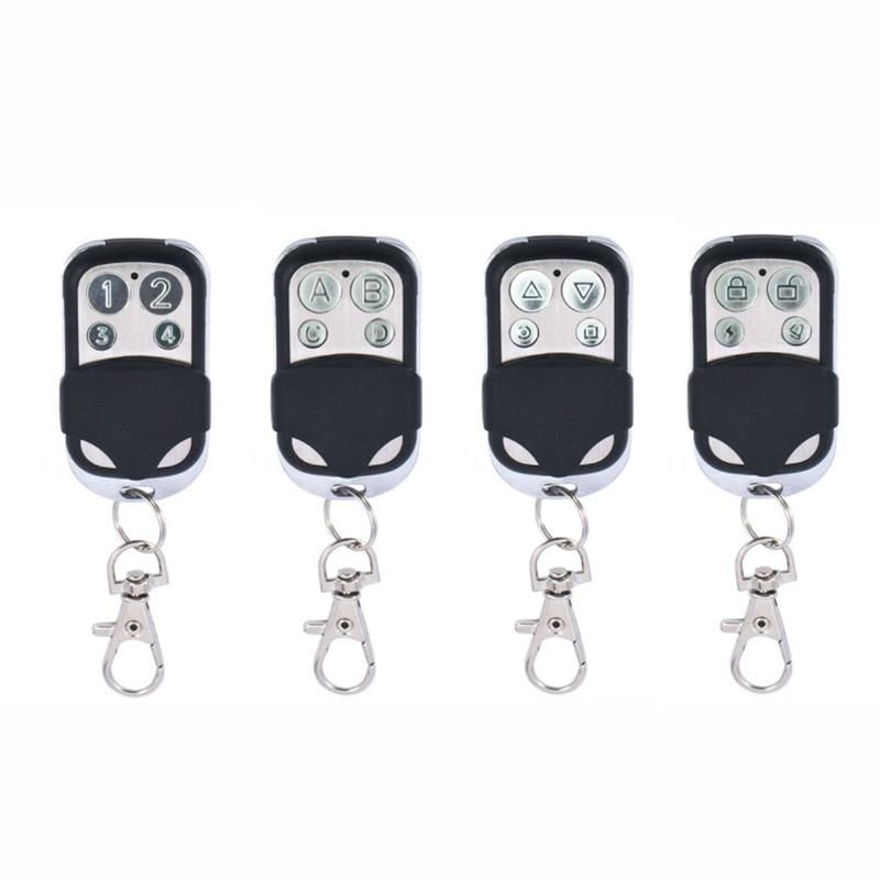 Universal 4 botões portão abridor de porta da garagem controle remoto 433mhz clone fixo código aprendizagem para gadgets porta garagem porta