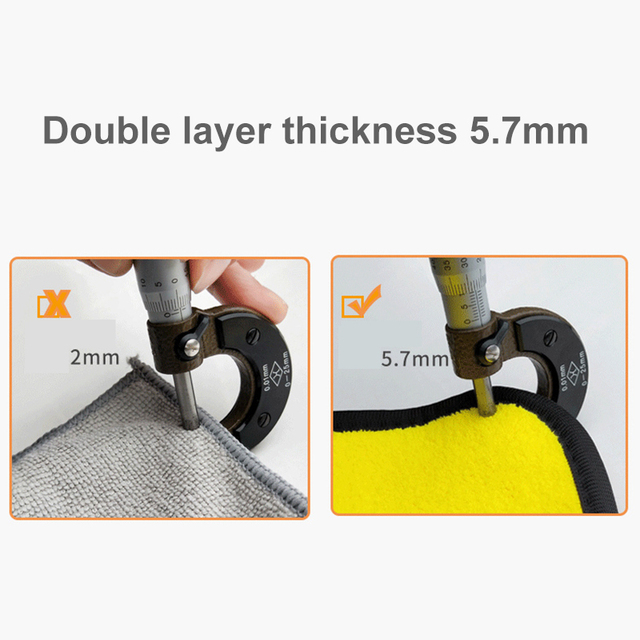 3/5/10 pcs Extra Soft Car Wash Microfiber Towel Car Cleaning Drying Cloth Car Care Cloth Detailing Car WashTowel Never Scrat 4