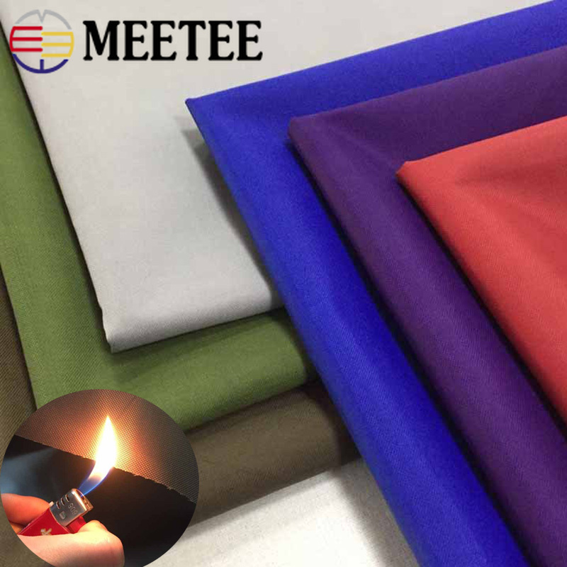 Meetee 100X150cm Thick 600D Fireproof Oxford Fabric Silver Plated Polyester Waterproof Carport Outdoor Flame Retardant Fabric