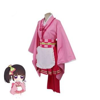 Gran oferta Anime cazadora de mujer Kimono Kochou Shinobu Kamado Nezuko Kanroji Mitsuri Kibutsuji Muzan uniformes tipo Kimono traje