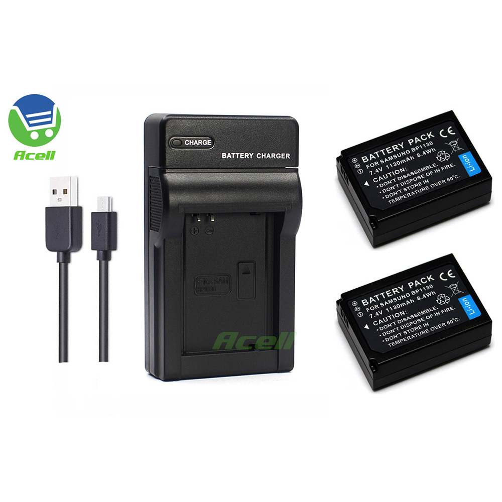 BP1130 Battery + USB <font><b>Charger</b></font> for <font><b>SAMSUNG</b></font> NX500 <font><b>NX1000</b></font> NX1100 NX2000 NX200 NX210 NX300 NX300M Camera Replace BP1030 image