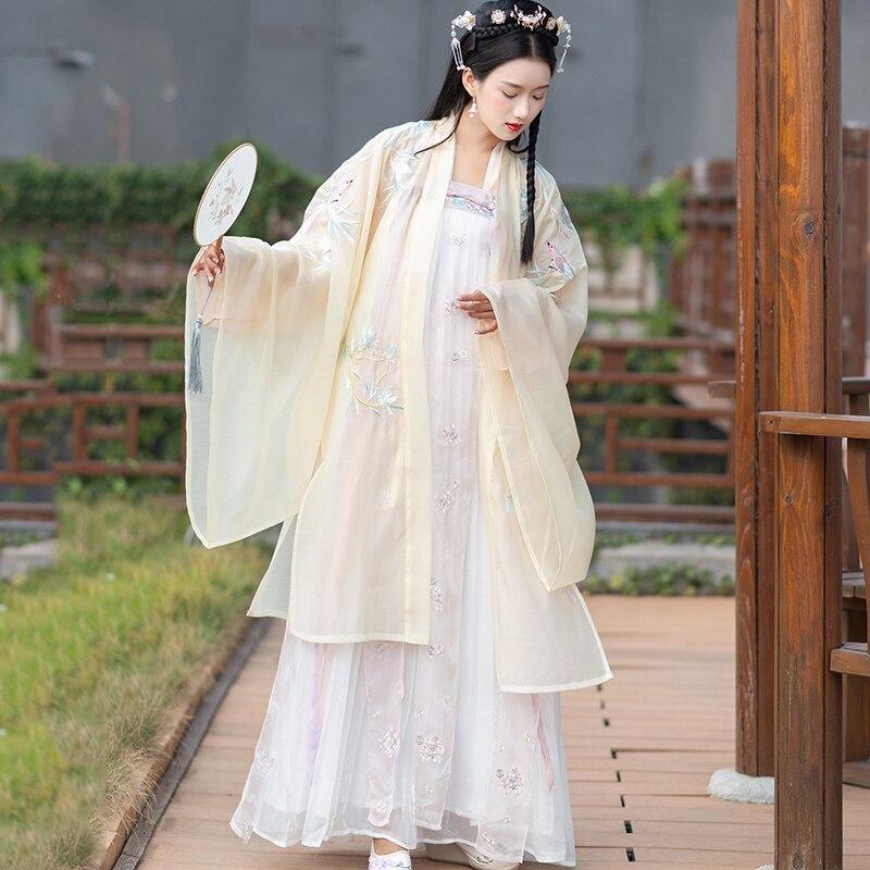 Classic Hanfu Costume Chinese Folk Dance Costumes China Ancient Hanfu Princess Dress Stage Wear Dress Festival Outfit DQS4353
