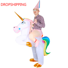 Inflatable Ride On Unicorn Costume for Adult and Kids
