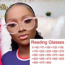 Gafas de lectura redondas y transparentes para mujer, lentes de lectura con bloqueo de luz azul de diseñador de muesca, lentes Vintage para pantalla de ordenador + 1 + 2 + 3 hipermetropía