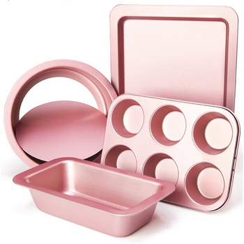 Kitchen Baking Tool Set Oven  Cake Mould   24 s Of Rose Gold