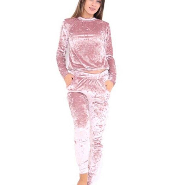 Aibrou Chandal Terciopelo Completo para Mujer,Conjunto Ch/ándal Terciopelo Trajes de 2 Piezas Pull-over Sudadera con Capucha y Pantalones Conjunto Deporte,Pijamas Casual