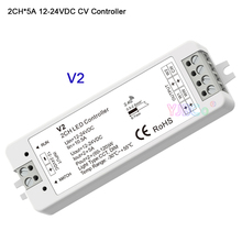 DC 12V 24V 2.4G RF Push Dim Single color/color temperature 2 in 1 led Controller 2CH*5A V2 dimmer receiver for strip