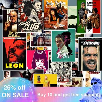 25pcs Classic Movie Stickers For Luggage Laptop Art Painting  Pulp Fiction Poster Waterproof Skateboard Toy