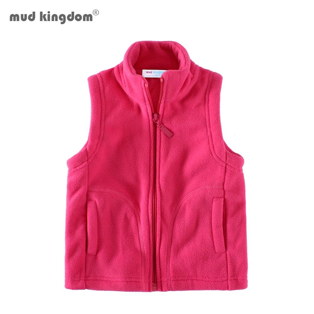 Mudkingdom Cute Boys Girls Fleece Vest Lightweight Full Zipper Kids Sleeveless Jacket 1