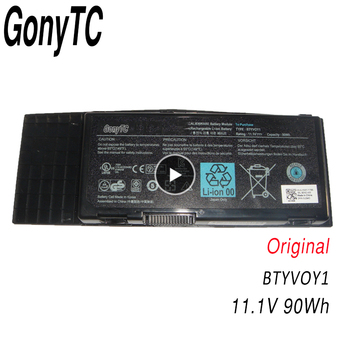 GONYTC BTYVOY1 11.1V 90Wh 7XC9N C0C5M 0C0C5M 5WP5W Laptop Battery For Dell for Alienware M17x R3 R4 05WP5W CN-07XC9N