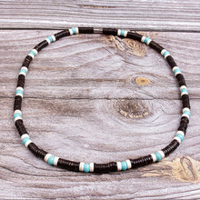 Natural coconut shell spacer beads Surfer Necklace for men tribal jewelry