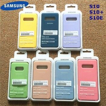 Samsung Silicone Cover Soft Liquid Silicone Office Original Style Case for Galaxy S10+ S10E S10 S20 Plus Ultra With Retail Box 1