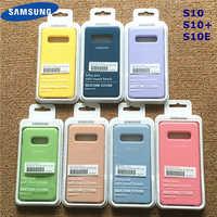 Étui en Silicone souple soyeux pour bureau en Silicone liquide Samsung étui de Style Original pour Galaxy S10 + S10E S10 Plus avec boîte de vente au détail