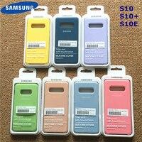 Samsung-funda de silicona líquida para móvil, carcasa suave de estilo Original para oficina, para Galaxy S10 +, S10E, S10, S20 Plus, Ultra, con caja de venta al por menor