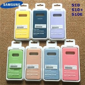 Samsung Silicone Cover Soft Liquid Silicone Office Original Style Case for Galaxy S10+ S10E S10 S20 Plus Ultar With Retail Box
