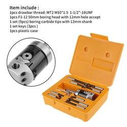 14 шт./компл. F1-MT2 12 мм тонкой сверлящей оправкой головка покрытием M10x1.5 ключи, дюймовый стандарт F1-12 головки 50 мм расточной инструмент для 10-225 ...