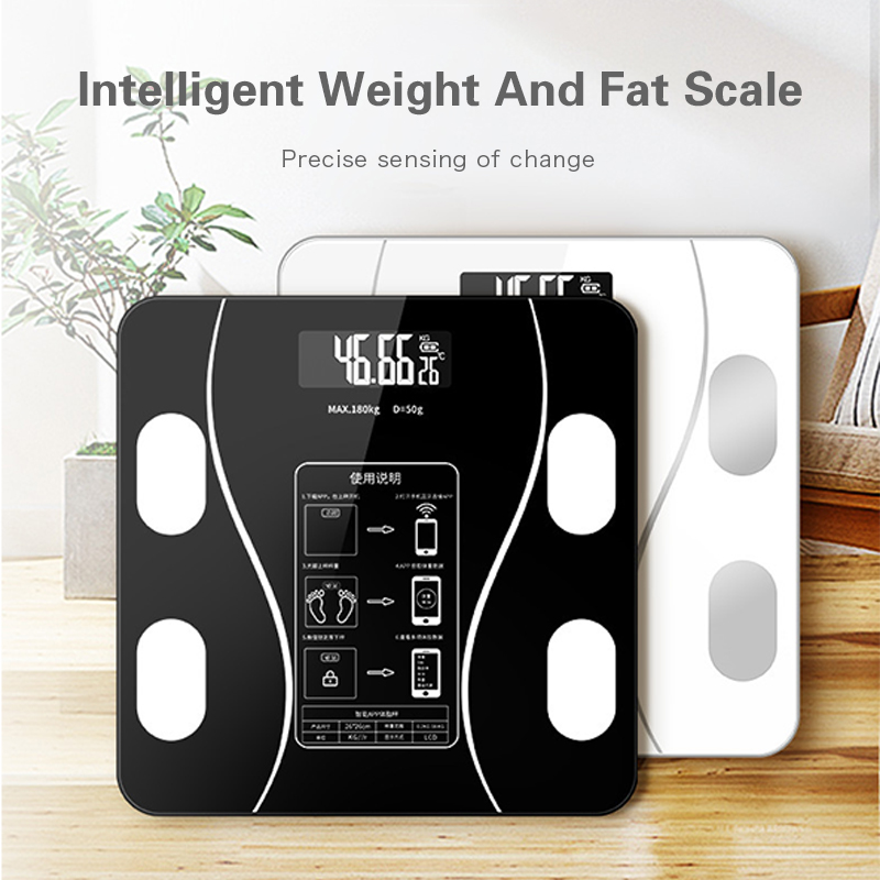 Weight Fat Scale Bathroom Smart Digital Scale LED Light Display Wireless Bluetooth Connection Control Weighing Intelligent Scale