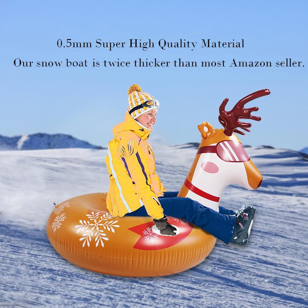 Забавные надувные санки для катания на коньках, утолщенные надувные лыжные доски, лыжные сани для зимних видов спорта, товары для катания на...