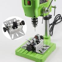 Beads Machine Rotary Tool Durable Woodworking Polisher Lathe Multifunctional Silver Punch Bracket Aluminum Alloy Drill Hole Mini