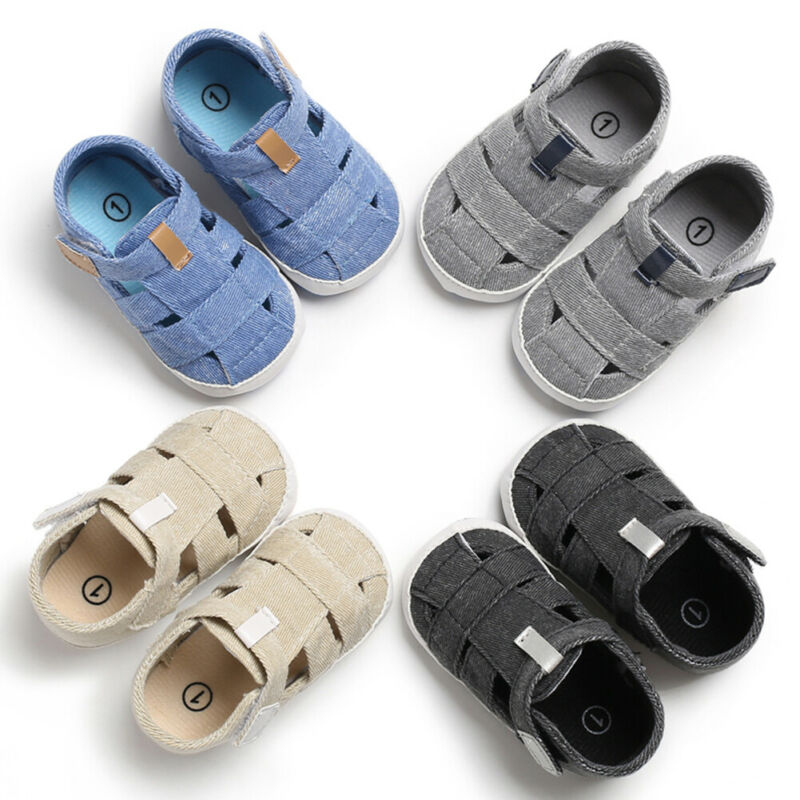 Summer Baby Boys Girls Sandals Babies Walking Shoes Babies Toddler Kid Casual Shoes US Size 11-13