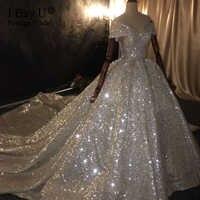 100% настоящая работа 2020 Дубай принцесса роскошное свадебное платье с бисером и открытыми плечами потрясающие свадебные платья с блестками и...