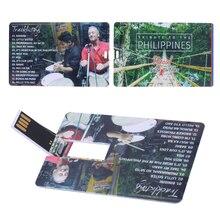 Clé Usb 2.0, 10 pièces/lot, carte de crédit daffaires, disque flash, logo personnalisé, Usb 2.0, 1 go, 2 go, 4 go, 8 go, 16 go, 32 go