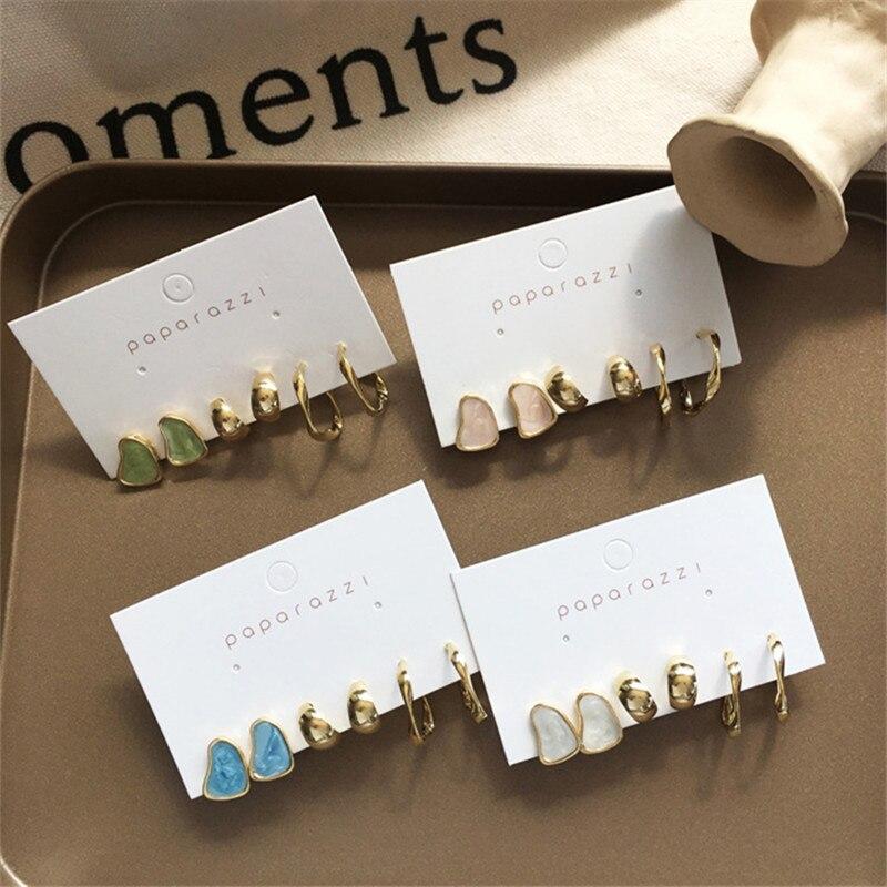 Комплект сережек женских в Корейском стиле, 3 пары, 2020