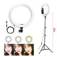 26cm Selfie pierścień LED światła ściemniania LED lampa pierścieniowa kamera wideo 10 cal lampka telefonu lampa pierścieniowa na żywo YouTube światła