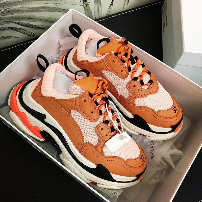 Fashion Paris Triple-S Designer Shoes Low Platform Sneaker Triple S Mens Casual...