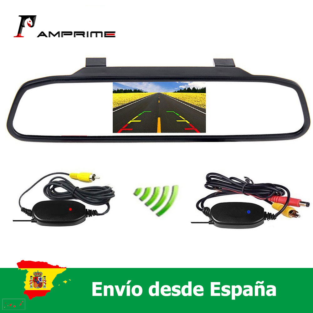 AMprime <font><b>4.3</b></font>'' Wireless <font><b>Car</b></font> radio Wireless HD Video Parking LED Night Vision CCD Parking System <font><b>Car</b></font> Styling image
