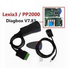 цена на Lastest Version lexia3 PP2000 with Diagbox V7.83 PSA XS Evolution For Ci-troen/For Pe-ugeot LEXIA-3 FW 921815C Lexia 3
