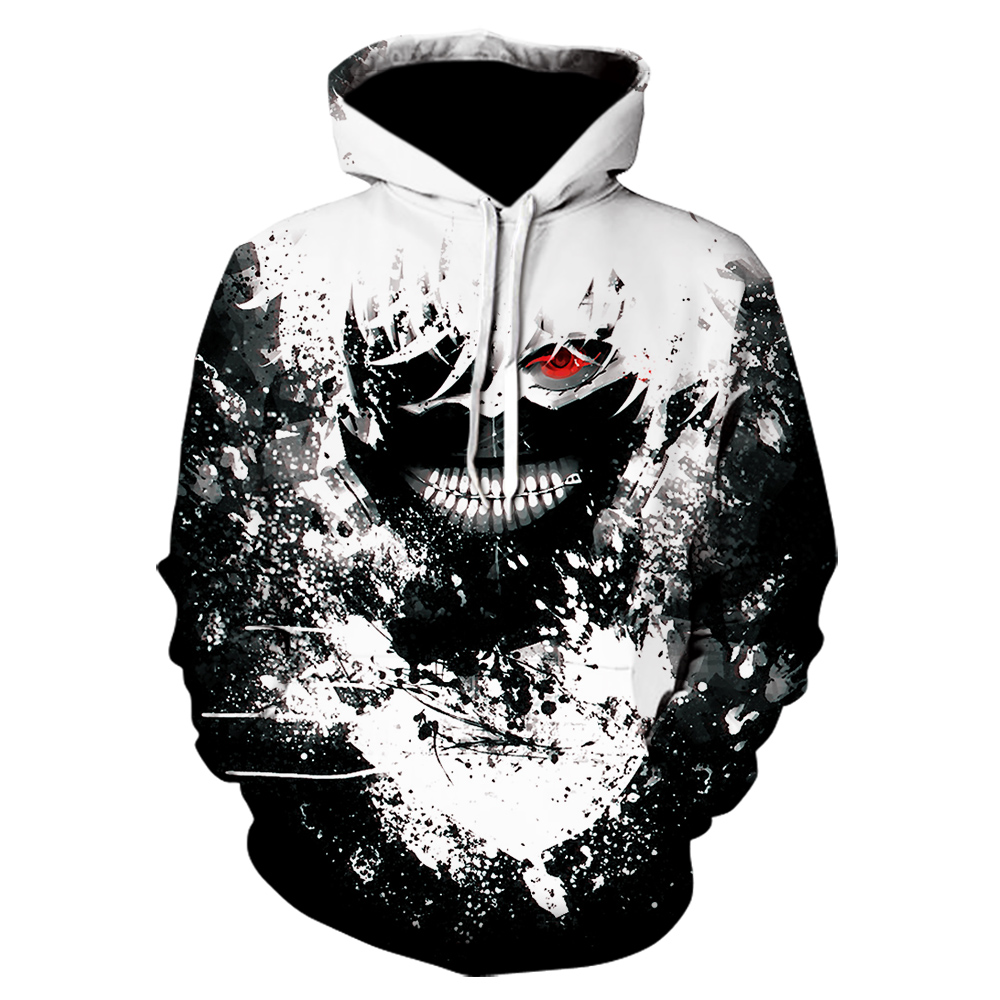 2020 New Hot Sale Tokyo Ghoul Hoodies Mens Hooded Pullovers Ken Kaneki Printed Male Hoody 3D Printing Hooded Sweatshirts