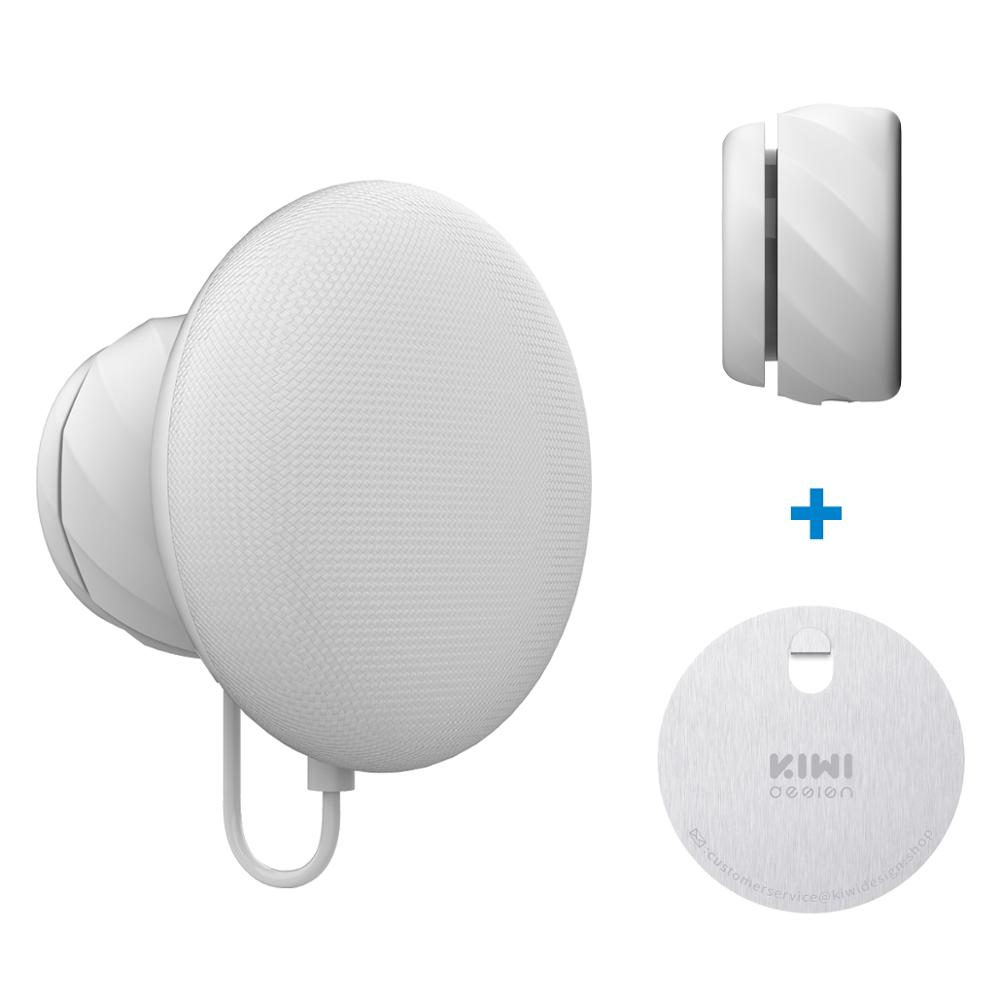 KIWI Design Wall Mount Holder For Google Nest Mini (2nd Gen), Google Nest Mini Space Saving Outlet Mount With Cord Management